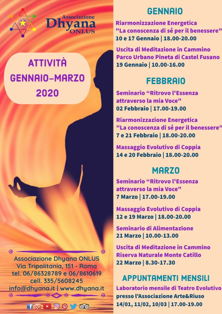 Locandina attività Gennaio Marzo 2020